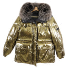 Yves Salomon Army Reversible Gold Black Metallic Parka - S