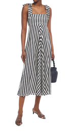 Zimmermann Honour Navy White Striped Maxi Gown - XS / 2
