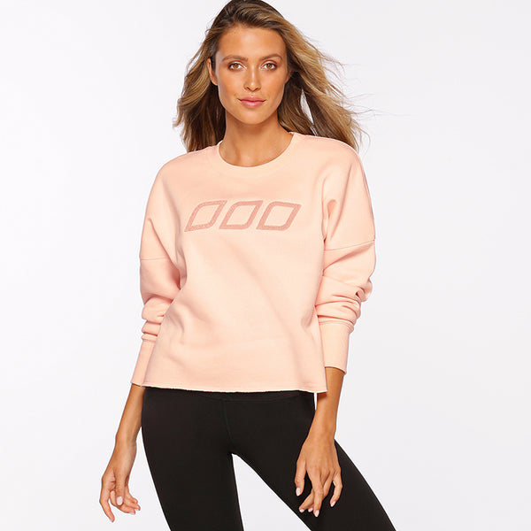 ICONIC CROPPED SWEAT - PETAL