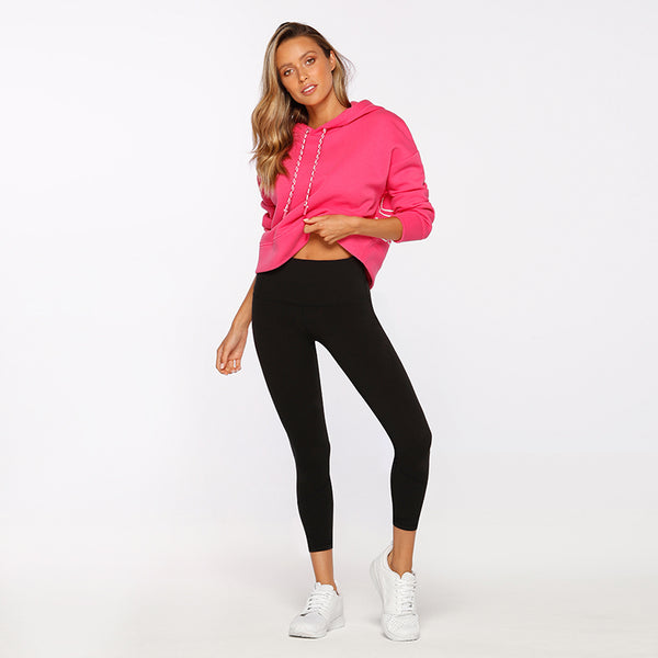 STAND OUT CROP HOODIE - PINK