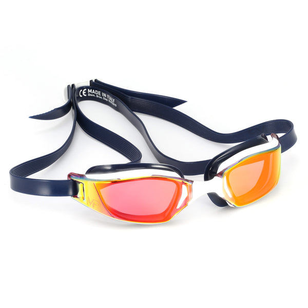 XCEED TITANIUM MIRROR GOGGLE WHITE/BLUE/RED