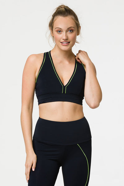 3095 HYPER BEAM BRA - BLACK/LEMONADE