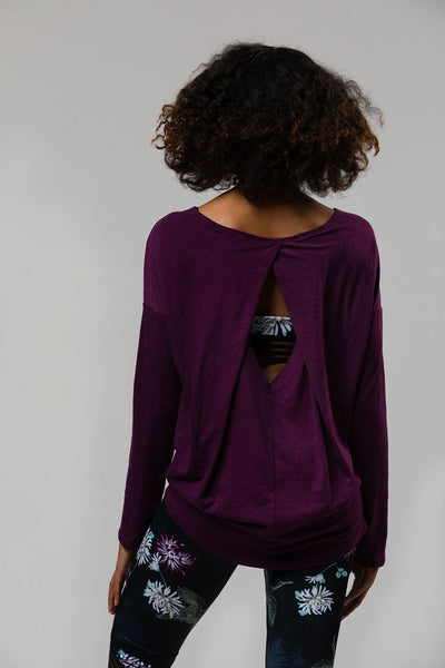 3129 DIAMOND BACK TOP AUBERGINE