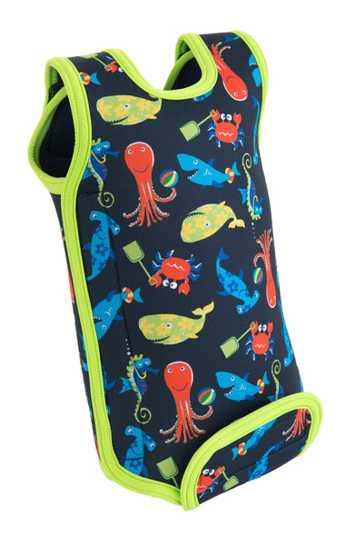 BABYWARMA WETSUIT - SEA FRIENDS NAVY