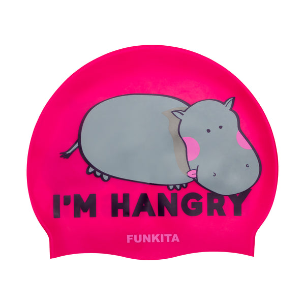 HANGRY HIPPO SWIM CAP