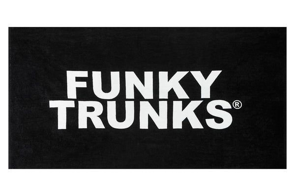 FUNKY TRUNKS TOWEL BLACK