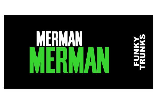 GREEN MERMAN TOWEL