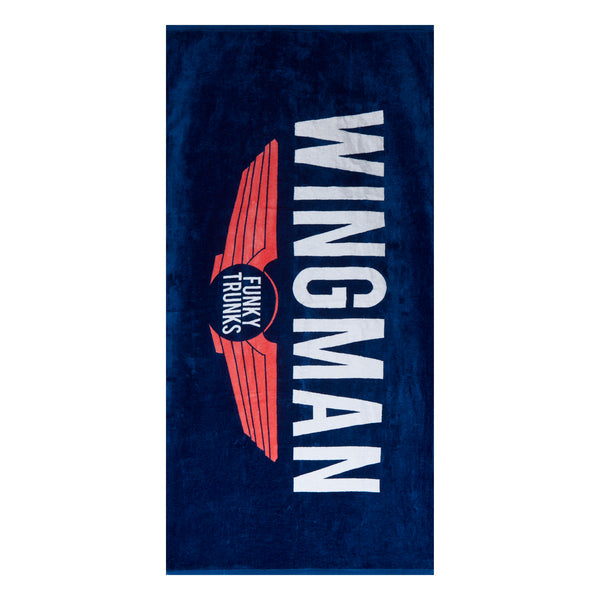 NAVY WINGMAN TOWEL