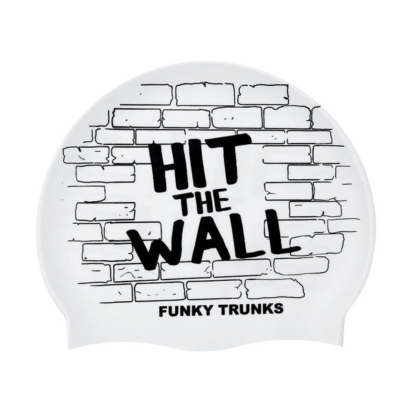 HIT THE WALL SILICONE SWIMMING CAP