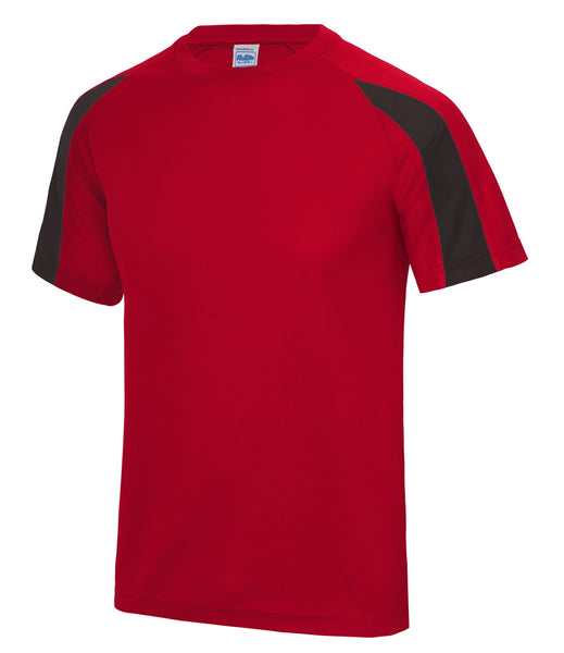 CONTRAST T-SHIRT -  RED/BLACK