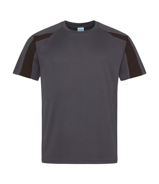 CONTRAST T-SHIRT - CHARCOAL/BLACK