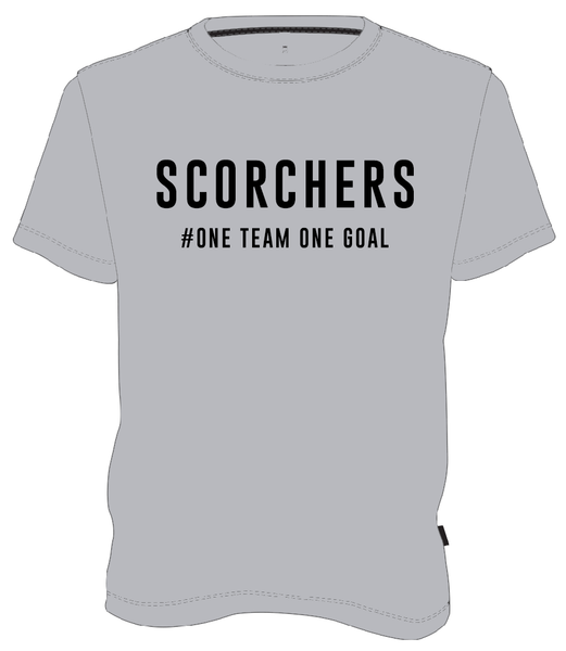 JUNIOR SCORCHERS ONE FAN T-SHIRT - GREY