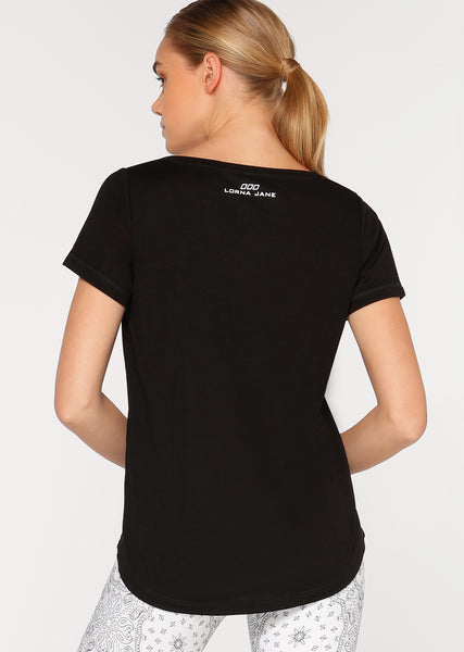 FRANKIE ACTIVE TEE BLACK