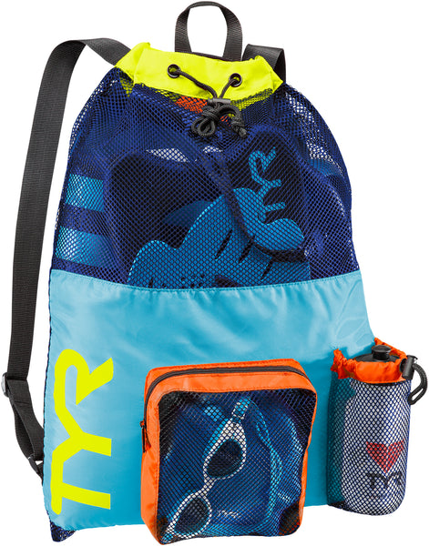 TYR BIG MESH MUMMY BACKPACK - BLUE/YELLOW