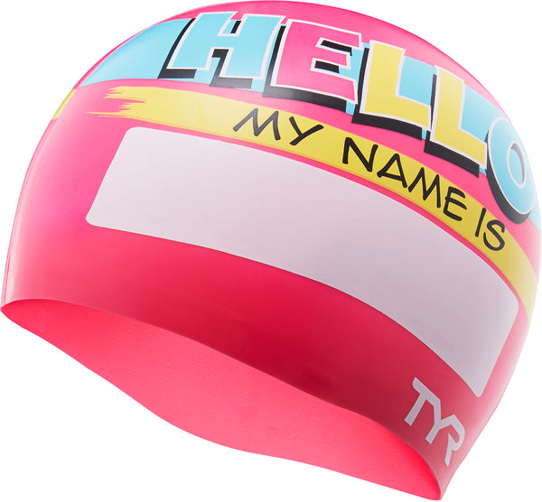 HELLO MY NAME IS SWIM CAP PINK