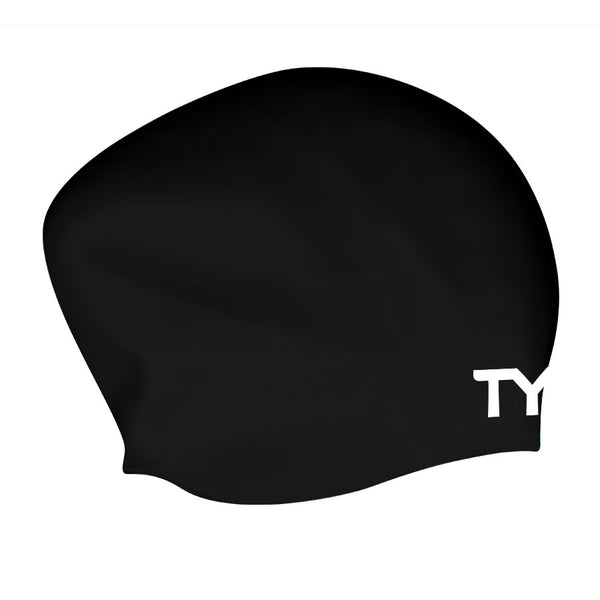 LONG HAIR WRINKLE FREE SWIMMING CAP BLACK