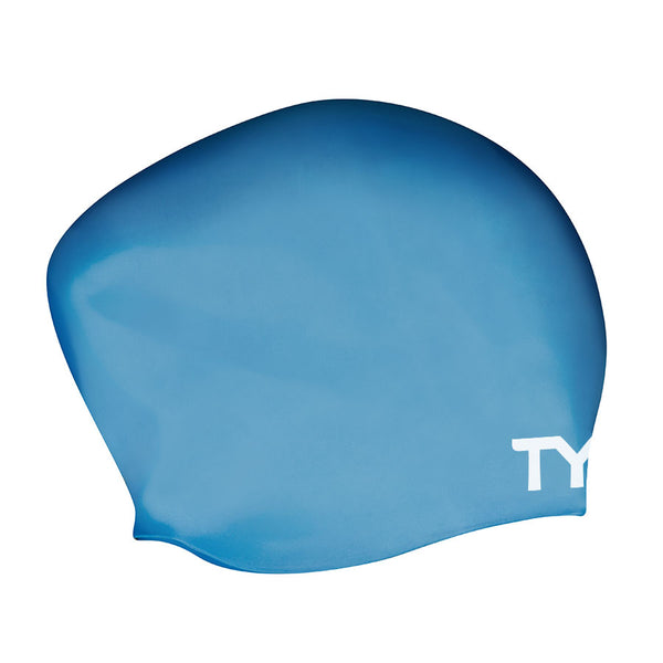 LONG HAIR WRINKLE FREE SWIMMING CAP BLUE