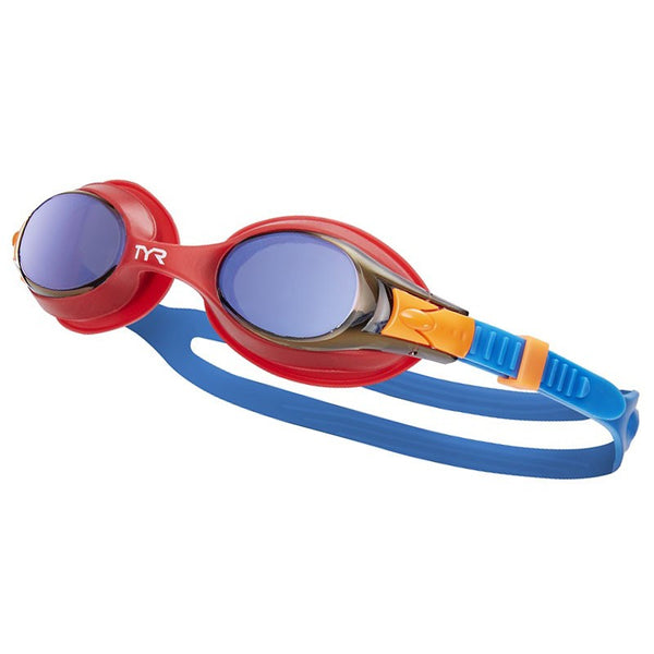 TYR JUNIOR SWIMPLE MIRROR GOGGLE RED 424
