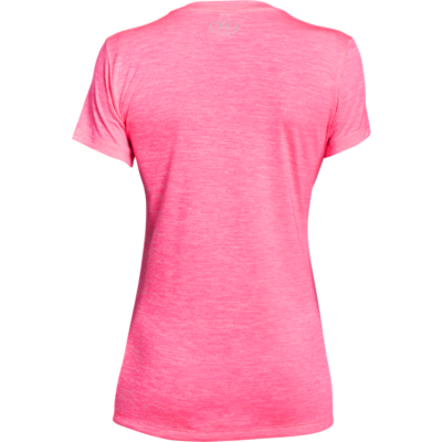 TECH TWIST V-NECK TEE - PINK