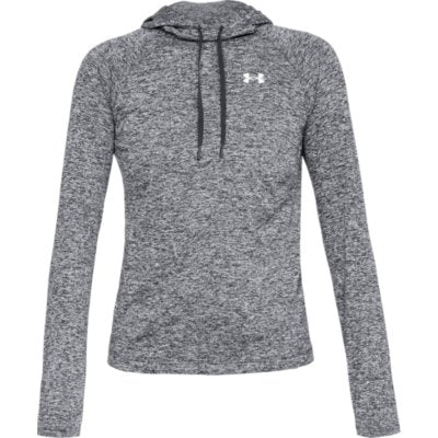 W TECH LS HOODY 2.0 - BLACK TWIST