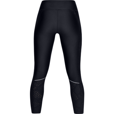 FLY FAST RAISED THREAD CROP LEGGING - BLACK