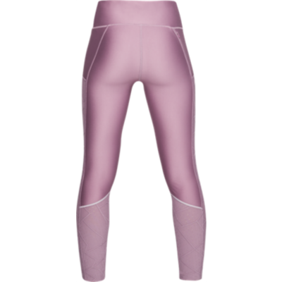 FLY FAST RAISED THREAD CROP LEGGING - PURPLE