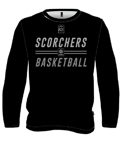 SCORCHERS REPLICA TRAINING LONG SLEEVE TOP - BLACK