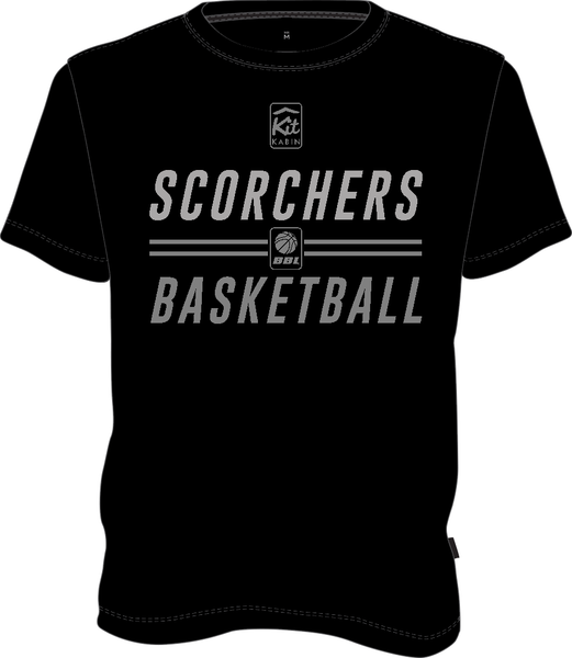 SCORCHERS REPLICA TRAINING TEE - BLACK