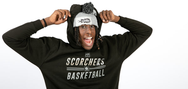 SCORCHERS REPLICA TRAINING HOODIE - BLACK