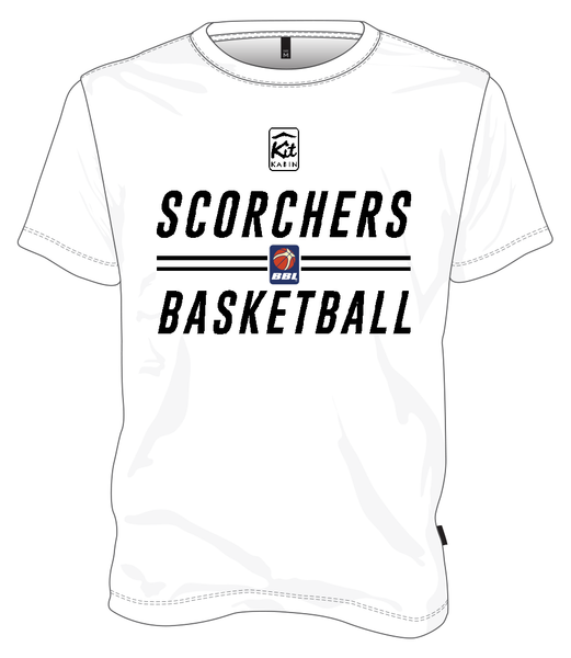 JUNIOR SCORCHERS SIGNATURE T-SHIRT - WHITE