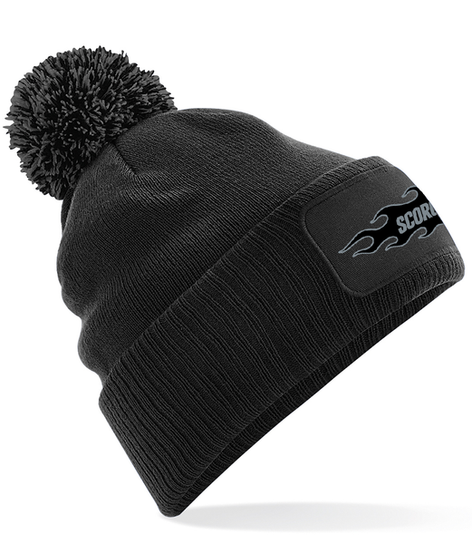 SCORCHERS LOGO POM BEANIE - BLACK