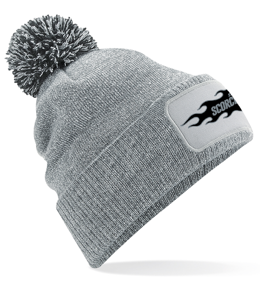 SCORCHERS LOGO POM BEANIE - GREY