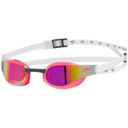 FASTSKIN ELITE MIRROR GOGGLES - WHITE/RED