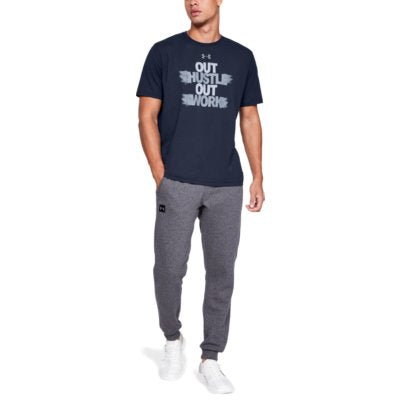 UA OUT HUSTLE OUT WORK TEE