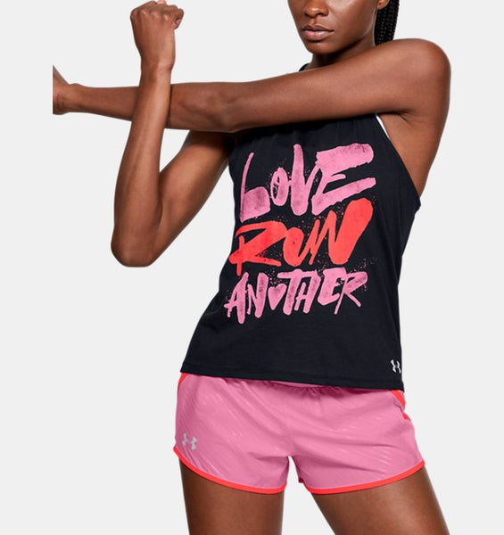 W LOVE RUN ANOTHER TANK BLACK
