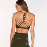 GYM SPORTS BRA - SAFARI