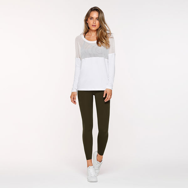 EVOLVE LS EXCEL TOP WHITE