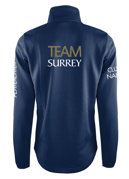 TEAM SURREY WOMENS 1/4 ZIP MIDLAYER