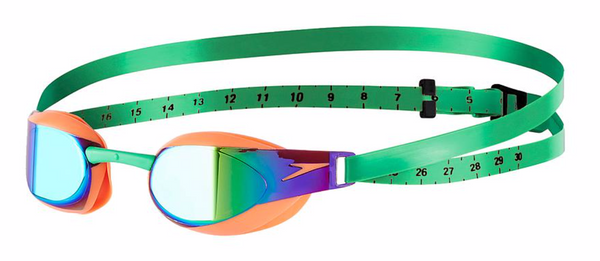 FASTSKIN ELITE MIRROR GOGGLES - ORANGE/GREEN
