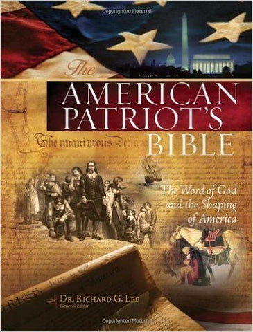 NKJV The American Patriot Bible (Blue Imitation Leather)