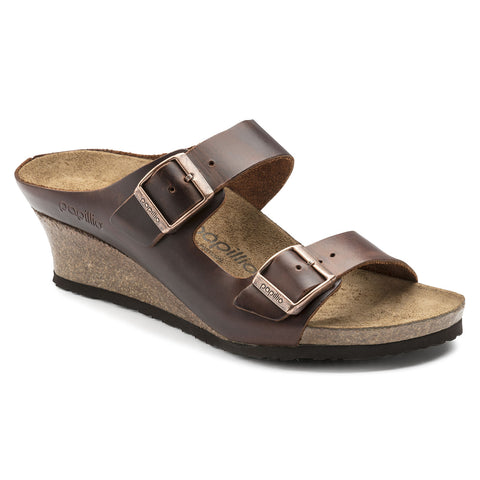Birkenstock Papillio Emina Cognac Leather Wedges