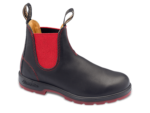 Blundstone 1316 - Black/Red Heritage Voltan Leather Boot (550 Series)