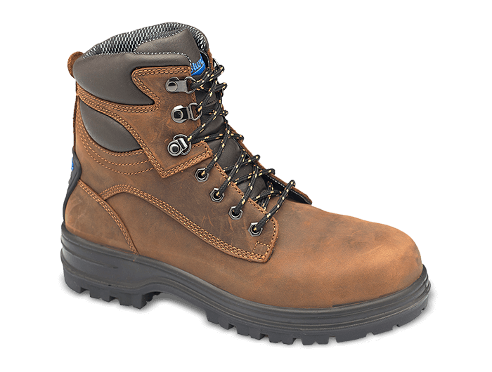 Blundstone 143 - Brown Premium Lace-Up Leather Steel Toe Cap Boot (Work Series)