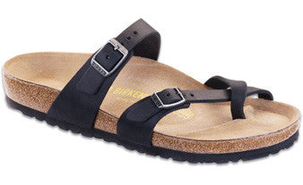 Birkenstock Mayari Black Oiled Leather Women's Sandals