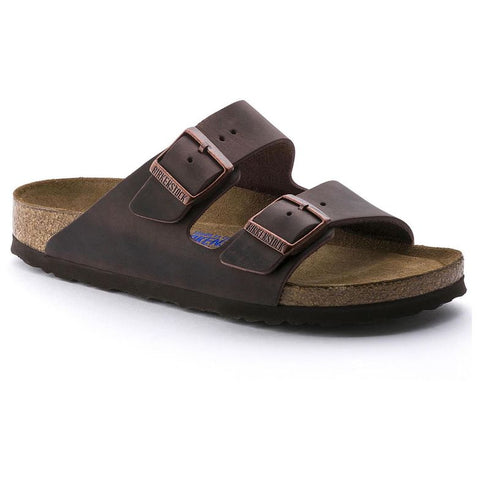 Birkenstock Arizona Habana Soft Footbed Oiled Leather Unisex Sandals