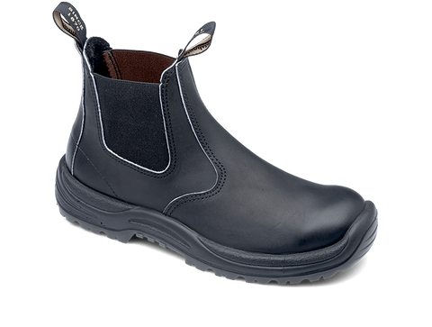 Blundstone 491 - Black Premium Oil Tanned Leather Steel Toe Cap