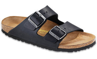 Birkenstock Arizona Black Oiled Leather Sandal