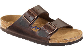 Birkenstock Arizona Soft Footbed Dark Brown Amalfi Leather Sandal