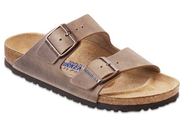 Birkenstock Arizona Tobacco Soft Footbed Oiled Leather Unisex Sandals