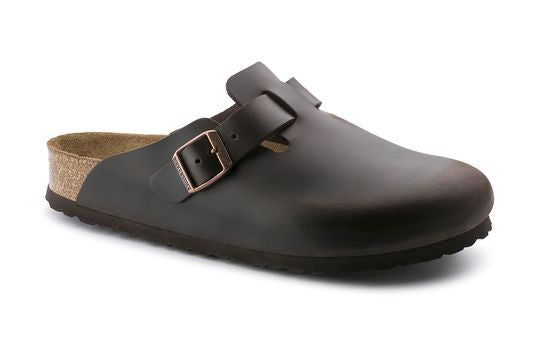 Birkenstock Boston Soft Footbed Brown Amalfi Leather Clogs